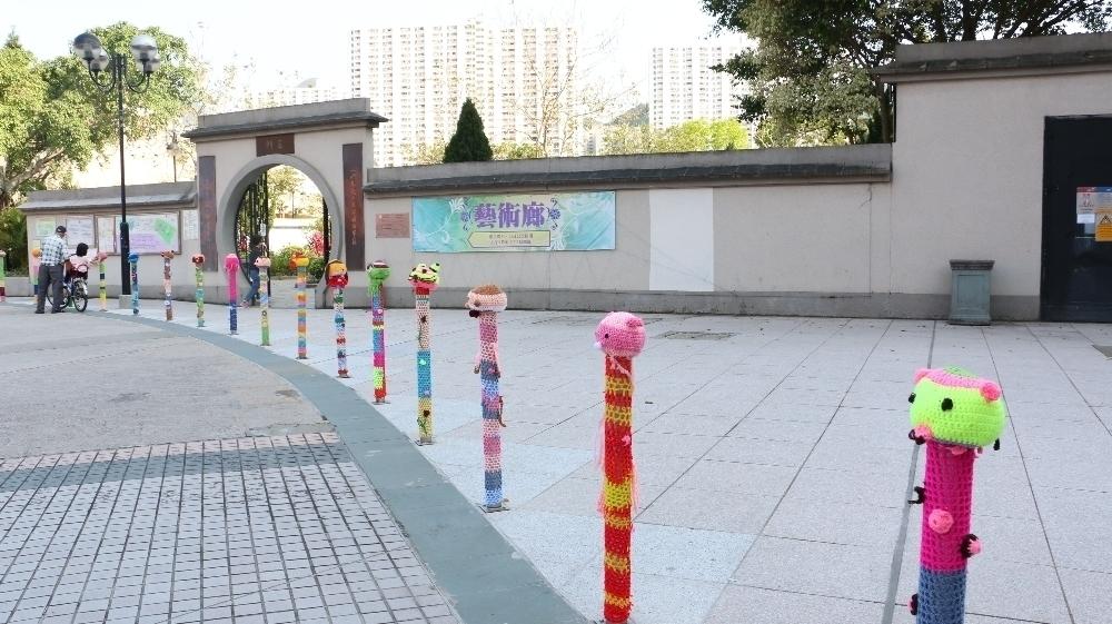 视艺科同学的创意动物公共艺术作品於沙田公园展出